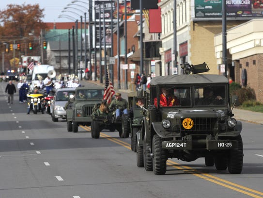The annual Veterans Day parade took place Saturday.