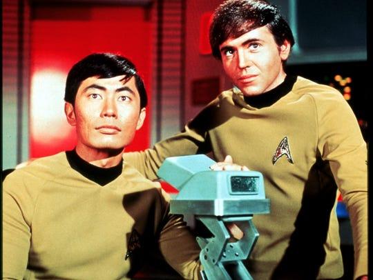 Walter Koenig, right, with 'Star Trek' castmate George