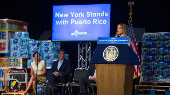 Governor Andrew M. Cuomo was joined by New Yorkers Jennifer Lopez, Rose Perez and pitcher Seth Lugo of the Mets, along with elected officials and labor, business and hospital leaders to provide an update on the Puerto Rico recovery effort and to make an announcement.