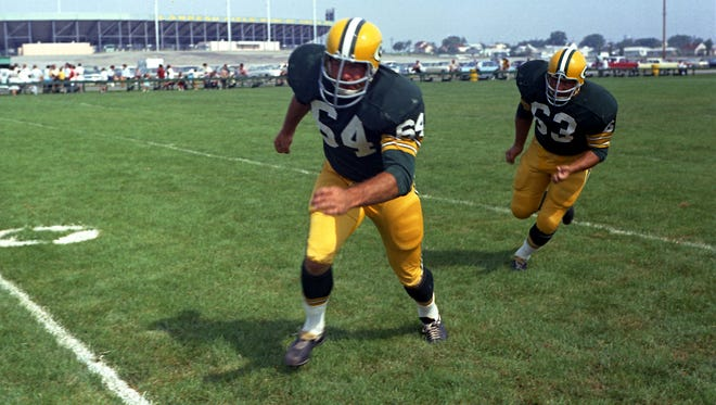 Green Bay Packers guards Jerry Kramer, left, and Fuzzy Thurston at picture day on the team's practice field in 1966. Press-Gazette archives Green Bay Packers guards Jerry Kramer, left, and Fuzzy Thurston at picture day on the team's practice field in 1966. Press-Gazette archives