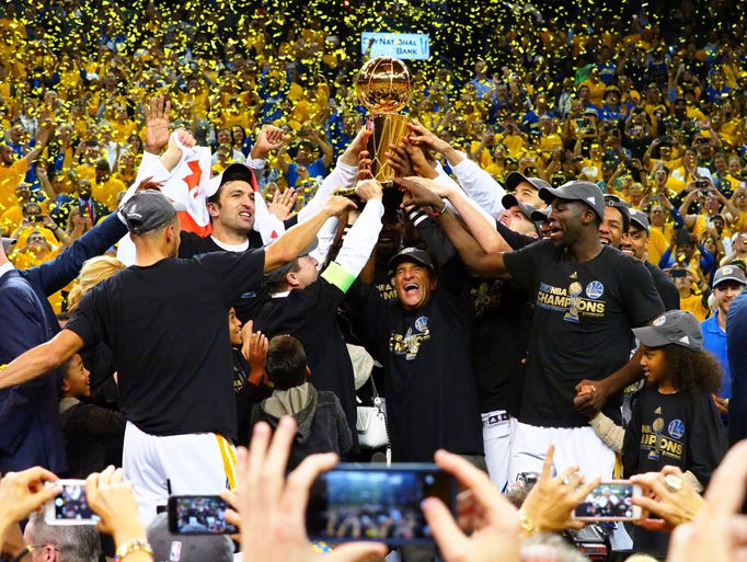 2017: Golden State Warriors, beat Cleveland Cavaliers
