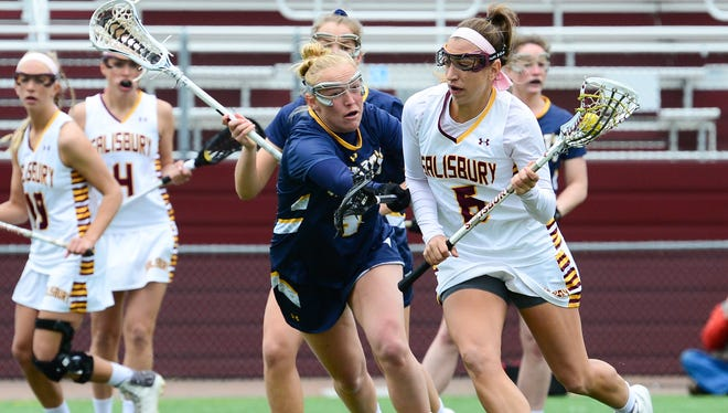 Salisbury University's Gabbi Nieves during the game against St. Mary's on Saturday, April 1, 2017 at Sea Gull Stadium.