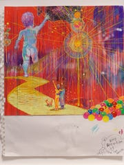 Wayne Coyne's print in a series at his opening reception