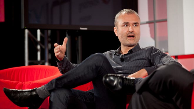 Nick Denton, founder of Gawker Media, speaks during the Interactive Advertising Bureau MIXX 2010 conference and expo during Advertising Week in New York, on Sept. 27, 2010.