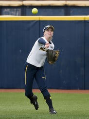 Michigan sophomore outfielder Natalie Peters is hitting