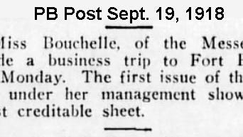 Praise from the Palm Beach Post from Sept. 19, 1918, on the new editor of the Stuart Messenger.