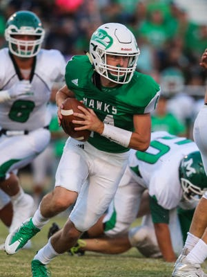 Brock Rosenquist was one of three Wall players to rush for over 100 yards last week against Iowa Park.