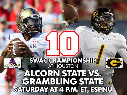 10. SWAC Championship (Houston): Alcorn State vs. Grambling