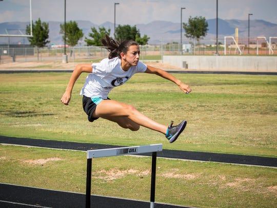 Oñate High School track and field star Jennifer Ramirez