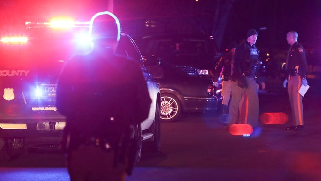 New Castle County police investigate a shooting on Augusta Drive in Chestnut Hill Estates in Ogletown, reported about 2 a.m. Friday.