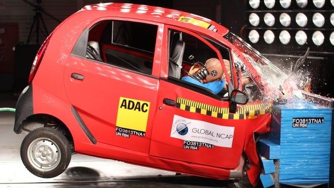 The Tato Nano undergoes crash tests
