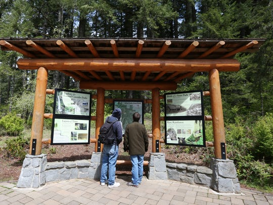 Visitors at Silver Falls State Park on April 26, 2016.