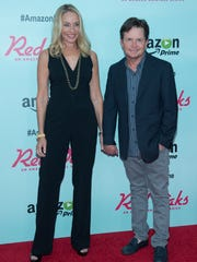 Tracy Pollan and Michael J. Fox attend the 'Red Oaks'