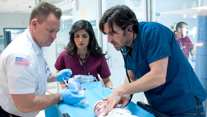 """""""The Night Shift,"""" starring Alma Sisneros and Eoin Macken (right), returns to NBC on Monday night."""