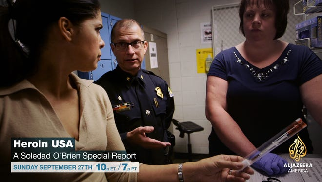 """""""Heroin USA,"""" a documentary featuring Soledad O'Brien will air at 10 p.m. Sunday, Sept. 27."""