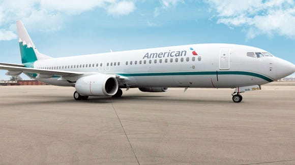 This American Airlines Boeing 737 is painted in colors