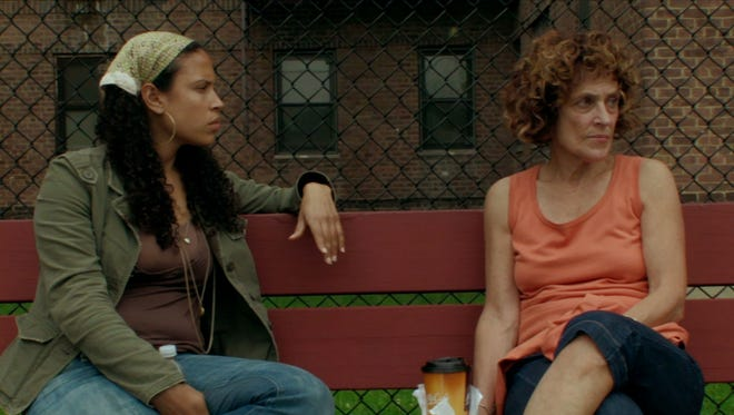 """Lacey Schwartz (left) and her mother, Peggy, in a scene from """"Little White Lie."""""""