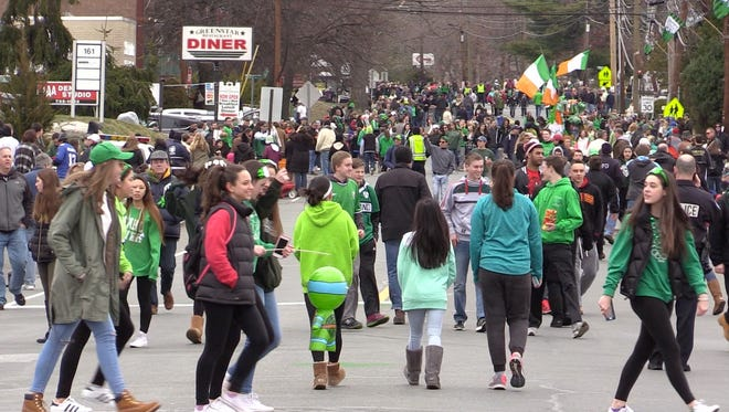 Thousands of people came out to enjoy the Pearl River St. Patrick's Day on March 20, 2016.