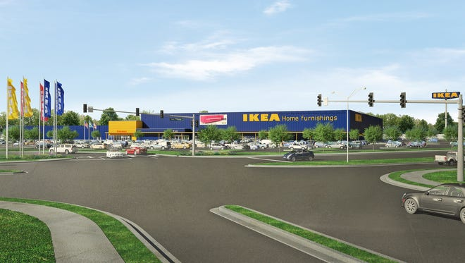 Architectural rendering of Jacksonville, Fla., IKEA.
