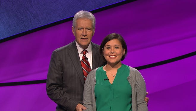 """Newark's Vicki Kelly lost in her """"Jeopardy!' debut on Wednesday night."""