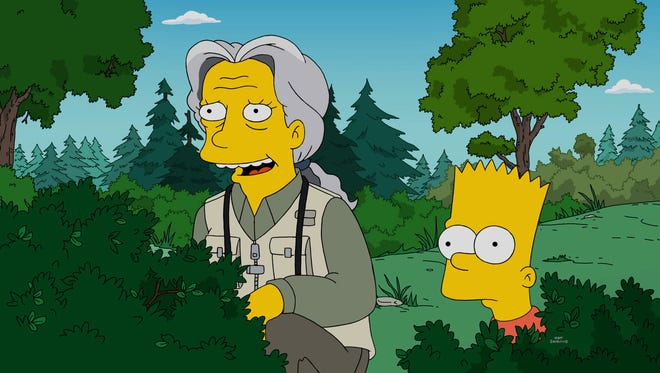 Jennifer Saunders guest stars on Fox's 'The Simpsons.'