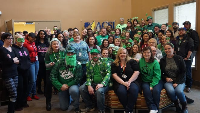 ACSI employees celebrate St. Patrick's Day by wearing green.