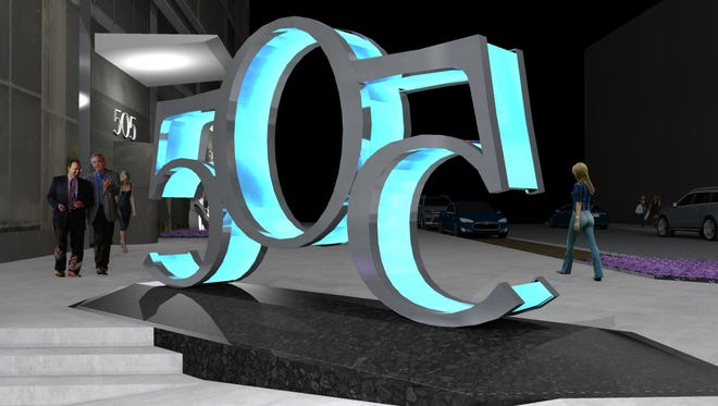 The 505 sculptural sign planned at the corner of Fifth and Church