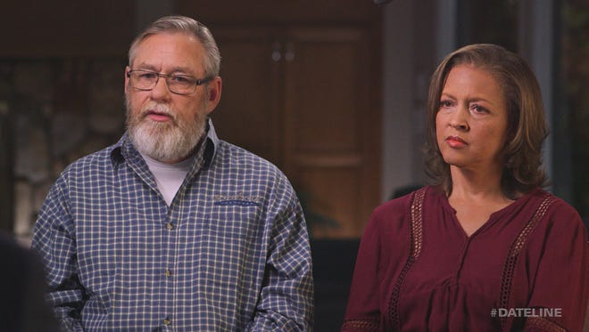 """Connie Jones and Rick Anglin speak to Josh Mankiewicz during an episode of """"Dateline."""""""