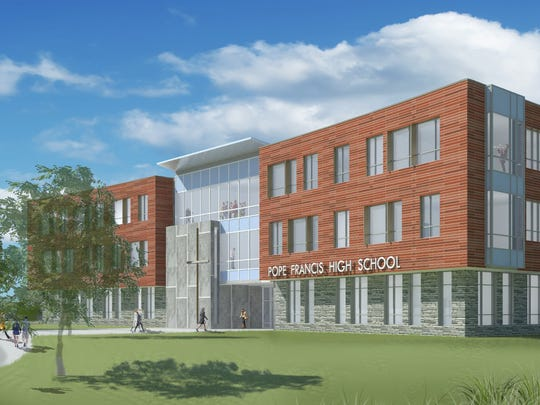 Architectural rendering of the new Pope Francis High