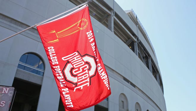 An Ohio State flag at the team's spring game April 16, 2016.