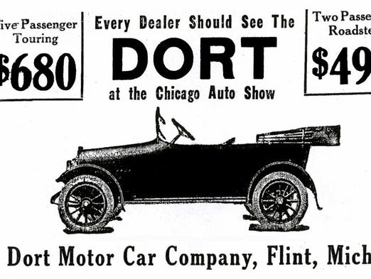 An advertisement for the Dort automobile in 1915, similar