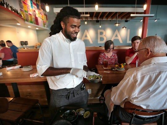Phillip Richardson makes Babalu's signature table-side