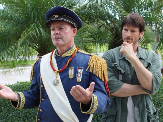 """Rob Kenna (left) and Derrick Paul star in the Vero Beach Theatre Guild's production of """"Evita."""""""
