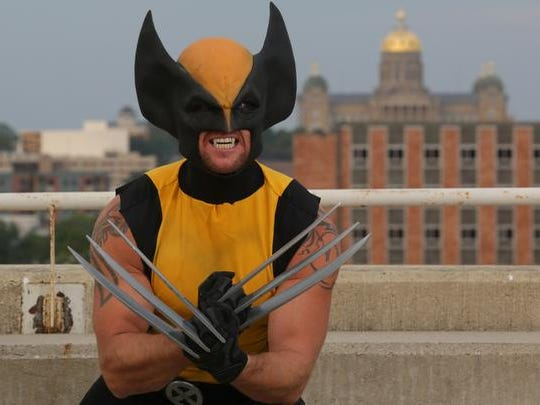Wolverine, aka Jeremy Towsley of Grimes, is a member of the Iowa League of Heroes, which consists of fewer than 10 members, who all dress up in costume and visit children in area hospitals.