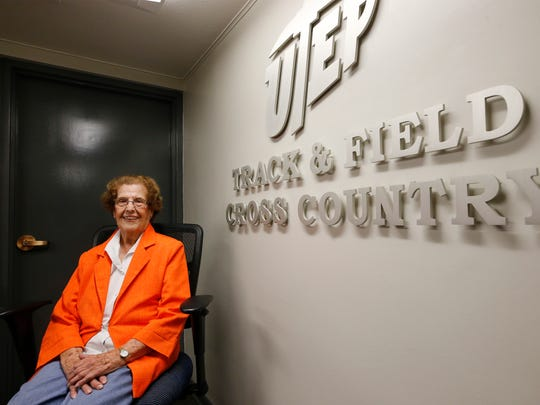 "Kate Jensen 98, and still going strong after 31 years as the UTEP Track Office secretary, has decided that she needs to find something else to do and ""give a younger person a chance to be around all these young athletes and someone that they can relate to,"" Jensen said. Jensen also spent 30 years working for State National Bank now known as Wells Fargo Bank."
