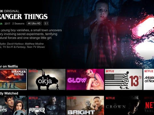 "Netflix offers ""Stranger Things."""