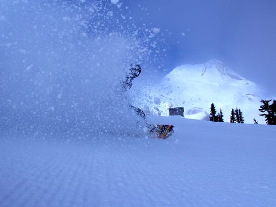 A shot from Mount Hood Meadows ski area on Thursday morning.