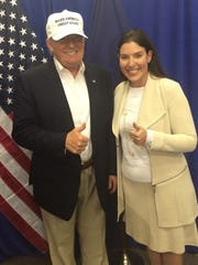 Lena Epstein poses with Donald Trump during a campaign