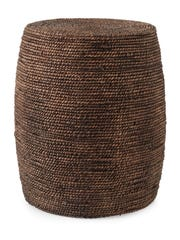 From Dot & Bo, seagrass fibers are woven together to create a smart little ottoman.