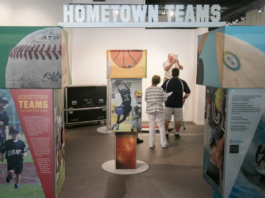 Hometown Teams: How Sports Shape America is an six-week exhibit at the Alliance for the Arts in Fort Myers.