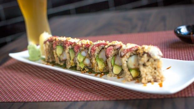 Sushi at Hudson Room in Peekskill.