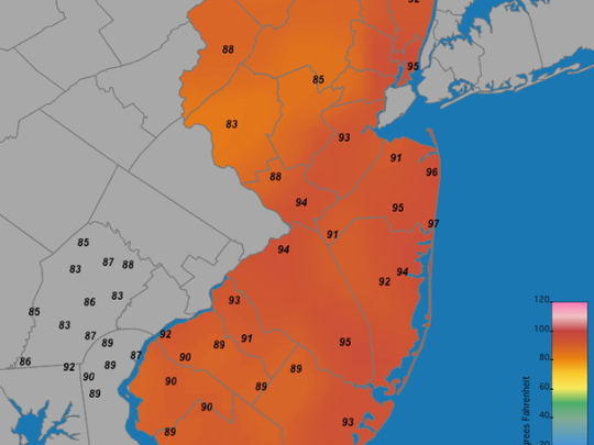 A look at how hot it will feel today.