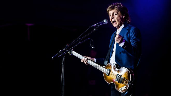 Paul McCartney performs at the annual Roskilde Festival in Denmark on July 4, 2015.
