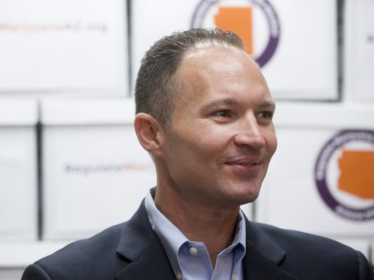 J.P. Holyoak, chairman of the Campaign to Regulate Marijuana Like Alcohol, spoke during a press conference on June 30, 2016 after submitting close to 260,000 signatures to state officials to place an initiative on the November ballot that would end marijuana prohibition in Arizona.
