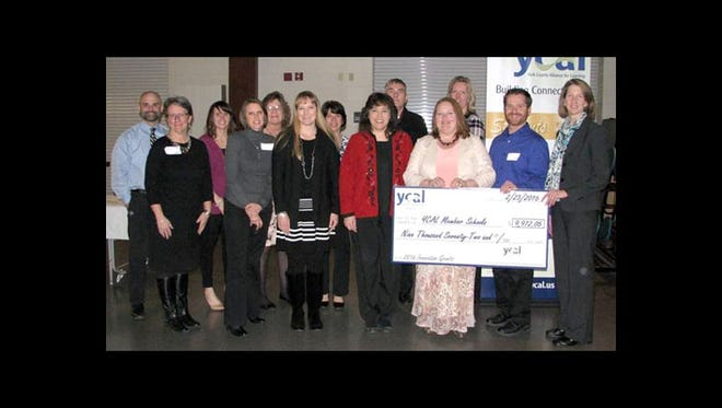 The York County Alliance for Learning awarded 12 Innovation Grants to local educators totaling nearly $10,000. The selected applicants were honored at YCAL's Career Education and Work Standards Symposium on Feb. 23. Pictured are grant recipients, from left, Tom Laure, of Susquehannock High School; Joyce Marburger, of Kennard-Dale High School; Kellin McCullough, of Susquehannock High School; June Stratmeyer, of Kennard-Dale High School; Toni Shearer (a grant writer); Angela Jordan, of Fawn Area Elementary; Becki McCullough and Jenell McKowen, both of Manheim Elementary; Matt Corwin, of Dallastown Area High School; Melissa Halcott, of Lincolnway Elementary; Denise Fuhrman, of York Suburban High School; Brian Heisey, of Central York Middle School; and Beverly Evans (grant committee member of York College). Other grant recipients are Chad Riddle and Jessica Rathell, both of Manheim Elementary, and Kevin Schussler and Rob Sealover, both of York County School of Technology.