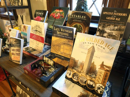Books on display at the gift shop in the welcome center