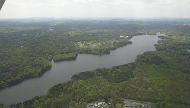 The area around the Oradell Reservoir is preserved from development.