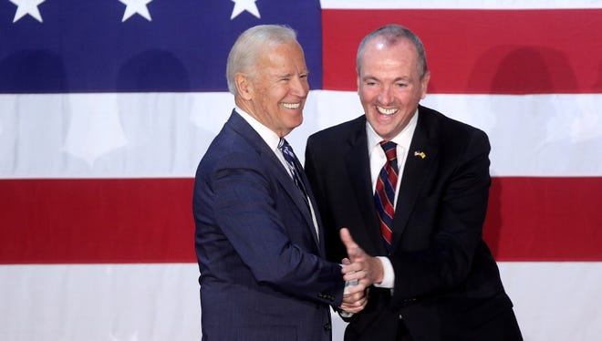 Former Vice President, Joe Biden was at the Lyndhurst Recreation Center to support Democratic gubernatorial candidate, Phil Murphy, May 28.