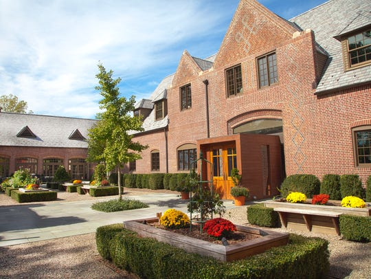 The front entrance of Ninety Acres, Natirar's highly-acclaimed