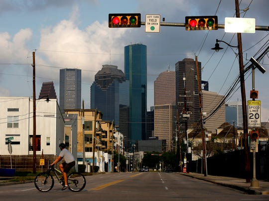 View of downtown from the Fourth Ward on March 26, 2017, in Houston, Texas. Houston has become the most diverse city in the nation.